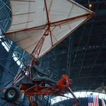 Steven F. Udvar-Hazy Center: Space exhibit panorama (hang glider)
