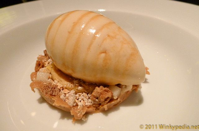 Brown bread ice-cream at Dinner by Heston | Flickr - Photo Sharing!
