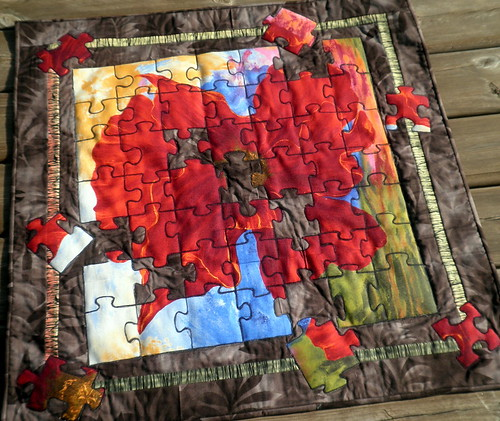 Blossom Puzzler - Off Season Project QUILTING challenge 2
