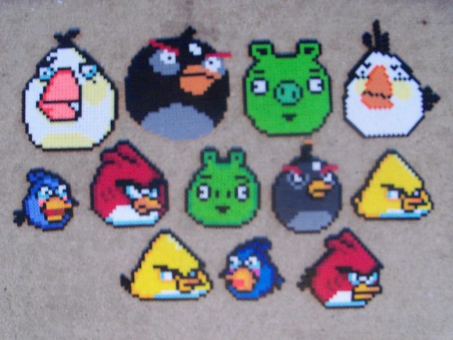 Angry Birds Bead Sprites Flickr Photo Sharing