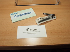 Pilot Capless Fountain Pen Matt Black - Cartridge and Carrier