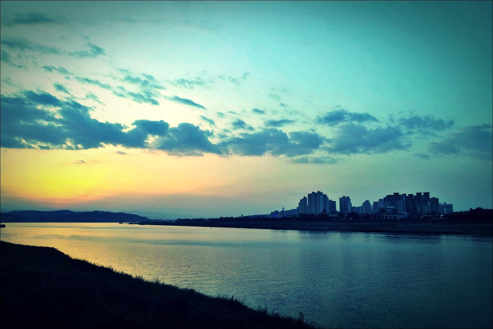 여주 석양-'남한강 자전거 종주 Bike Riding Namhan river Korea'