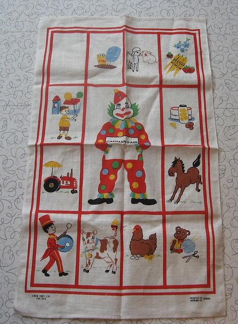 Vintage linen tea towel.