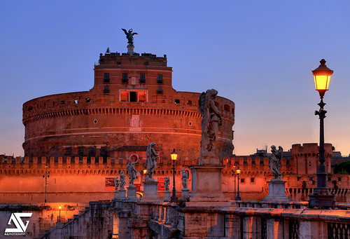 italy rome roma castle sunrise nikon ag nikkor chateau hdr italie anto d800 pontesantangelo saintange antoxiii agphotographe