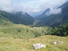 The climb out of Les Contamines up towards Col du Bonhomme 2329m Image