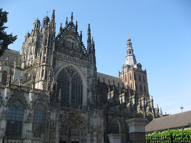 Den Bosch, cathedral of St.John, north-aisle and tower.