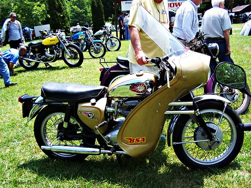 Gold BSA Motorcycle