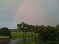 Mein erstes PicPlz-Foto: Regenbogen abends