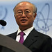 Yukiya Amano Briefs the Press