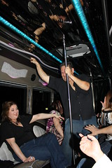 PJ Making his Way to the Back of the Bus - 2-26-2011