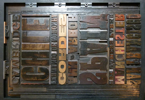 Letterpress Courses 2011 – Nadina's wood type forme