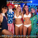 EmmeGirls Models Marketing Events at the Georgetown Waterfront DC 4th of July Red White Blue Beach Bash by EmmeGirls