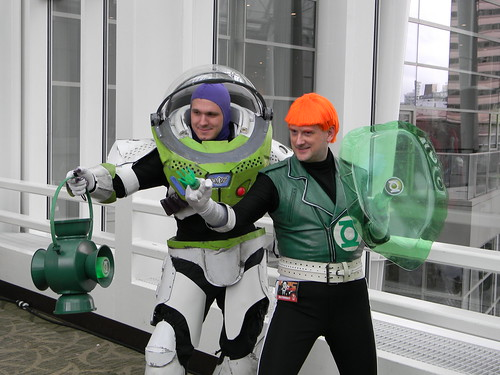 Green Lantern and Buzz Lightyear