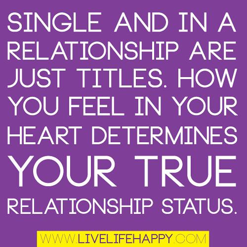 single relationship status quote