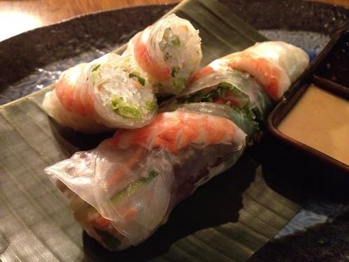 海老と蒸し鶏の生春巻680円@アジアンキッチン 新宿武蔵野ビル店 (asian kitchen)
