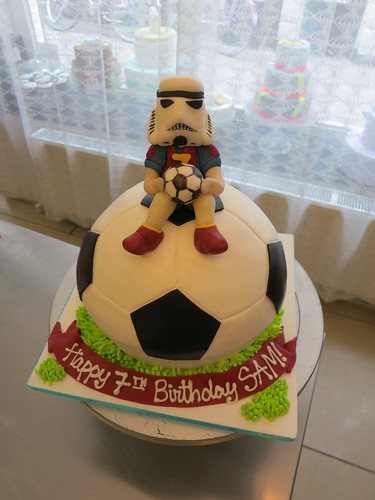 Stormtrooper Football Cake by CAKE Amsterdam - Cakes by ZOBOT