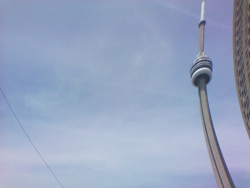 CN Tower, distorted