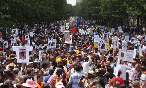 Thousands marched down Fifth Avenue in New York City to protest police brutality. Stop and Frisk targeting African Americans has enraged millions through the city. by Pan-African News Wire File Photos