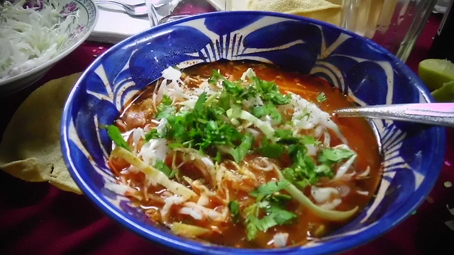 Pozole rojo by CC user marthax on Flickr