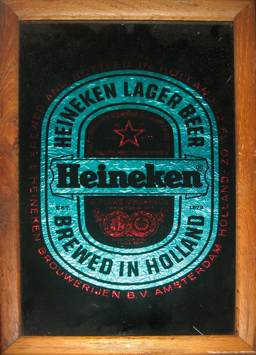 20120526 - yard sale booty - 1 - Heineken Mirror close-up - IMG_4266