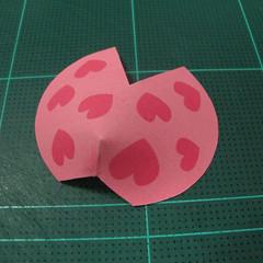 วิธีทำโมเดลกระดาษรูปเต่าทองแบบง่ายๆ (Easy Ladybug Papercraft Model) 006