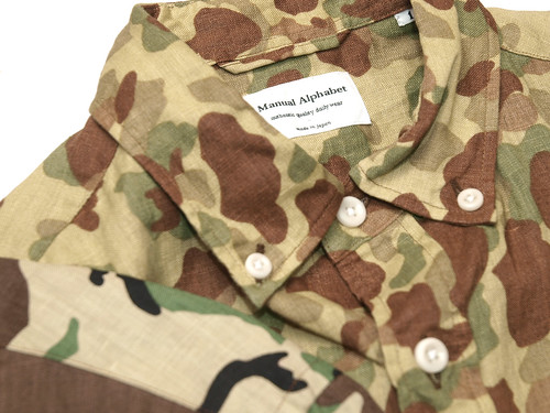 Manual Alphabet / S/S Linen Camo Print B.D Shirt