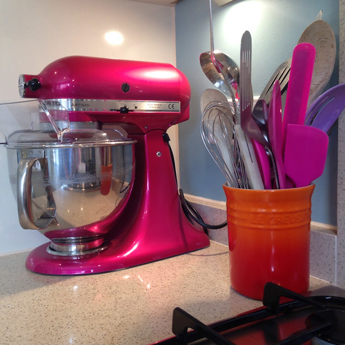 More Le Creuset and my beloved pink Kitchen Aid mixer