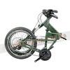 245-000-B-P-001 PARACYCLE 小傘兵前避震折疊單車20吋27速前碟軍綠色-3