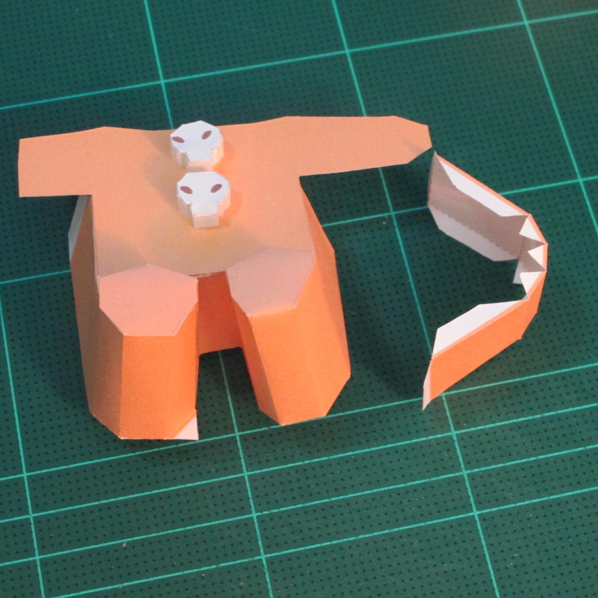 วิธีทำโมเดลกระดาษตุ้กตาคุกกี้รัน คุกกี้ผู้กล้าหาญ แบบที่ 2 (LINE Cookie Run Brave Cookie Papercraft Model Version 2) 018