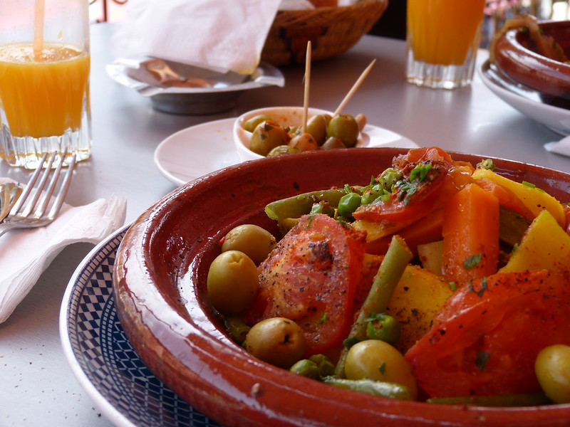 Vegetable tajine in Marrakesh
