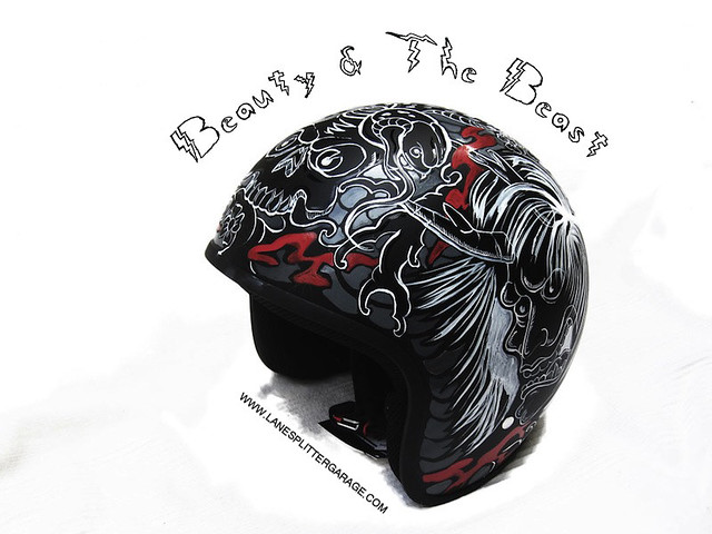 Beauty and the Beast motorcycle helmet