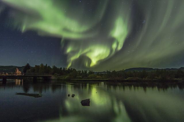 Aurora Borealis at Þingvellir, Iceland