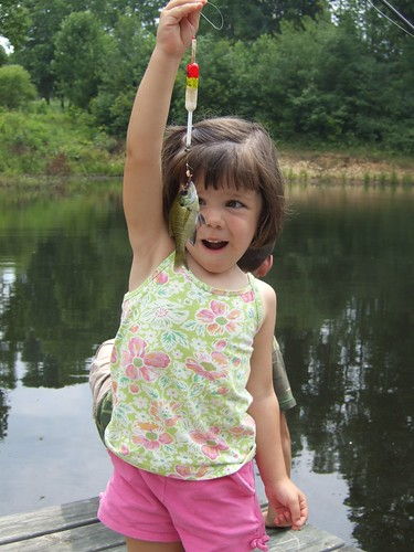 Elena's first fish