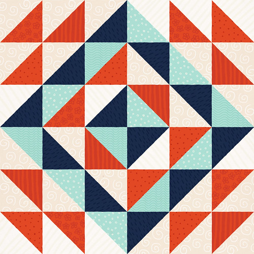 paperbicycle: Daily Pattern: Triangle Quilt