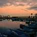 Old harbour at sunset, Bari, Italy