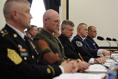 MCPOCG testifies with DoD senior enlisted leaders before the House Armed Services Committee