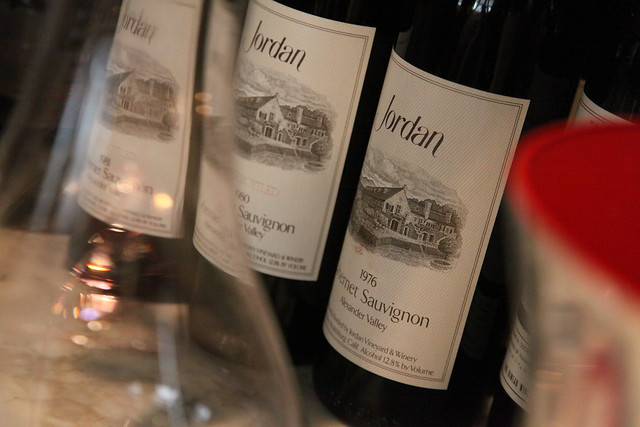 Jordan Cabernet Sauvignon retrospective tasting at Ai Fiori in New York