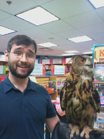 Me and an owl, April 2012