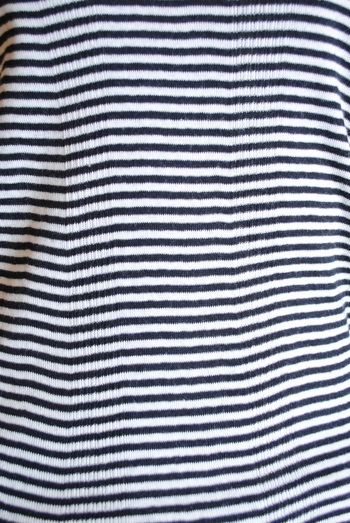 Scoop Neck Short-Sleeve Striped Tee