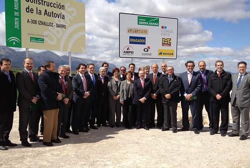 Primera piedra autovía A-308 Iznalloz-Darro (Granada)
