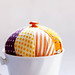 Mid Century mod teacup pincushion