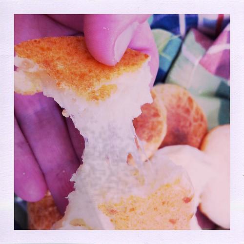 cheesy brazilian bread torn apart