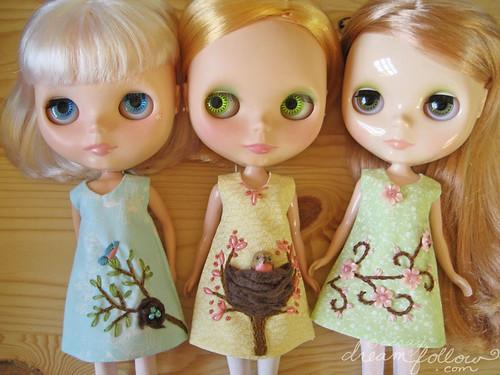 3 spring tree dresses