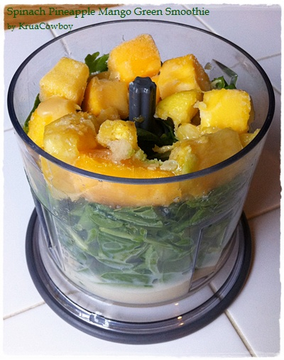 Spinach Pineapple Mango Green Smoothie