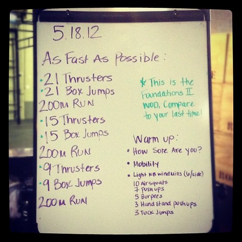 Friday fun #wod. Thrusters @ 65# are not so much fun.