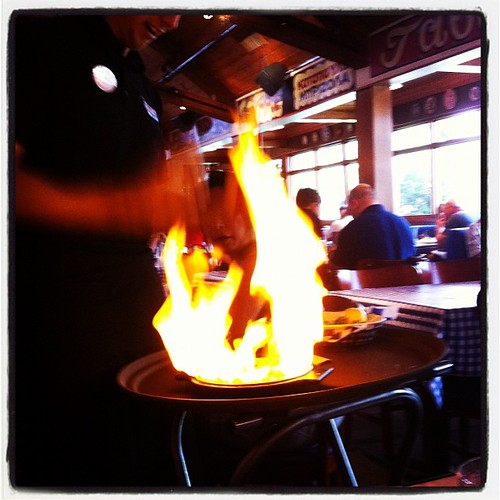 Opa!! Flaming cheese anyone? by MAStapleton