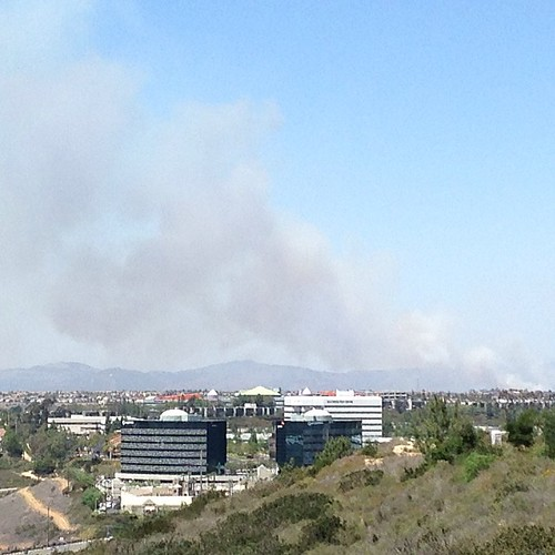 4s smoke plume as seen from work.
