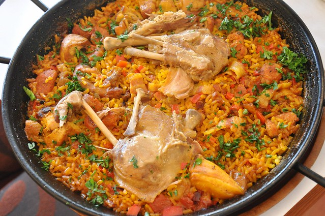 Paella with Duck