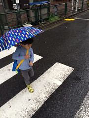 雨の日の登園 2014/5