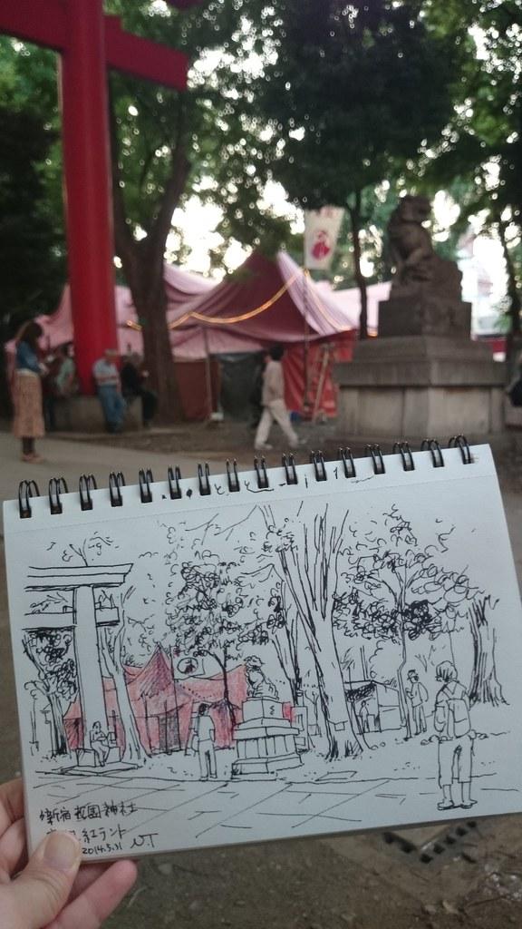 新宿花園神社 唐組紅テント